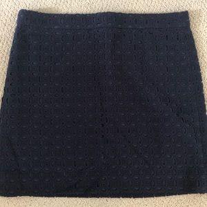 Jcrew eyelet skirt